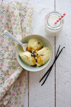 vanilla and olive oil ice-cream