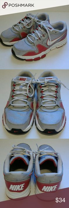 Nike Airflex Trainer Nike sneakers red and gray Size 9 Good used condition Nike Shoes Sneakers