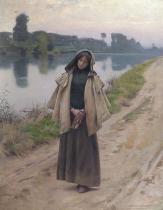 Charles Sprague Pearce (1851-1914) - Solitude (1889)