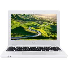 "Acer - 11.6"" Refurbished Chromebook - Intel Celeron - 2GB Memory - 16GB eMMC Flash Memory - White"