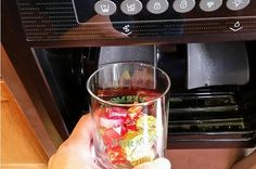 Candy from the ice dispenser