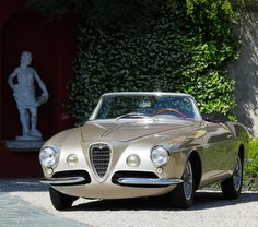 "doyoulikevintage: ""Alfa Romeo 1900 C SS Cabriolet Ghia Aigle "" Alfa Romeo 4c, Alfa Romeo Spider, Alfa Romeo Cars, Maserati, Lamborghini, Ferrari, Cars Vintage, Vintage Metal, Antique Cars"