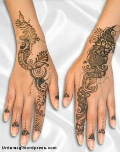 I wanna get henna done on my arms and hands.