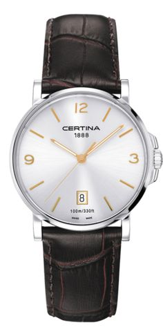 Looking for an affordable dress watch that is also reliable? The Certina DS Caimano may be the perfect watch for you. Telling Time, Beautiful Watches, Stainless Steel Case, Quartz Watch, Fashion Watches, Omega Watch, Watches For Men, Band, Accessories