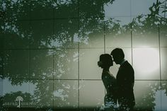 Crocker Art Museum Wedding Photos - Couple portrait in front of mueum, double exposure - Sarah Maren Photography - Sacramento, California