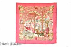 "Authentic Hermes Pink ""Maharajas"" Silk Scarf 35"". Get the lowest price on Authentic Hermes Pink ""Maharajas"" Silk Scarf 35"" and other fabulous designer clothing and accessories! Shop Tradesy now"