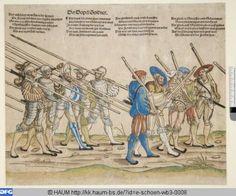 """""""Der Dopel Soldner"""", aus """"Heereszug der Landsknechte"""", 1535/42, Erhard Schön (1491-1542)"""