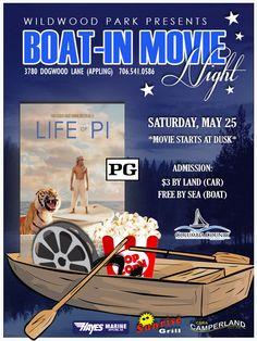 May 25, 2013: Boat-In Movie Night in Appling, Georgia.