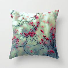 Winter Berries Throw Pillow by Ann B. - $20.00