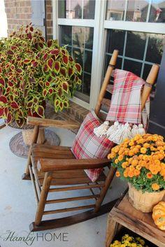 Festive Fall Porch Decor | The Hamby Home