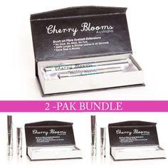 Cherry Blooms Mascara Brush On Fiber Eyelash Extension 2-Pak Bundle