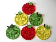 Gorgeous apple coasters