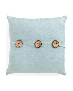 20x20 Textured 3 Button Pillow - Decorative Pillows - T.J.Maxx