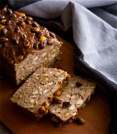 Pork & beef meatloaf with haloumi, pistachios & pomegranate molasses | Karen Martini