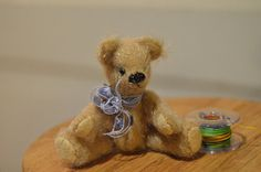 Miniature dollhouse teddy bear dollhouse by EclecticWandering