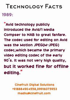 #technology_facts #avid_technology  #1989 #Codec #JPEG  #cinefruit #production #editing