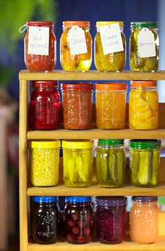 Canning Jars Rainbow