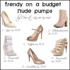 """Trendy on a budget - nude pumps"" by cocolavieenrose on Polyvore"