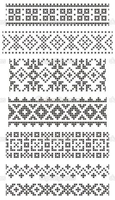 Fantastic Snap Shots Cross Stitch borders Style Set of seamless geometrical borders embroidery cross vector: set of seamless geometrical borders, e Cross Stitch Geometric, Cross Stitch Borders, Cross Stitch Alphabet, Cross Stitch Designs, Cross Stitch Patterns, Tapestry Crochet Patterns, Fair Isle Knitting Patterns, Knitting Charts, Knitting Stitches