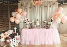 Blush Pink And Rose Gold 18th Birthday Party