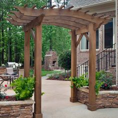 Pergola For Car Parking Diy Pergola, Pergola Decorations, Pergola Swing, Cheap Pergola, Wooden Pergola, Pergola Shade, Pergola Ideas, Pergola Kits, Pergola Curtains