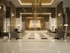 Explore the best ideas for luxurious Marble Wall for Living Room at The Architecture Design. Visit for more ideas about Marble Wall for Living Room. Design Entrée, Lobby Design, Floor Design, Tile Design, House Design, Design Ideas, Modern Design, Design Inspiration, Granite Flooring