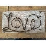 love barbed wire sign barb wire crafts more barbwire signs barbed wire ...