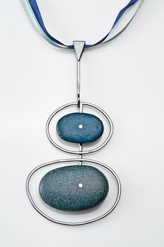 Deborah Boskin Pendant with Margaret De Patta Pebbles, Modern Jewelry