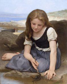 """Jeu avec le Crabe"",  William-Adolphe Bouguereau"