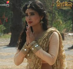 Shivanya has tough times ahead of her! Do tune in on tonight at Famous Indian Actors, Indian Celebrities, Indian Actresses, Dress Indian Style, Indian Outfits, Pakistani Actress, Bollywood Actress, Mouni Roy Dresses, Mouny Roy