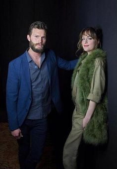 New outtake of Jamie Dornan and Dakota Johnson!! Love, love. love. They both sexy and playful!! Photo from via FiftyShadesAG!! Thank you!! 50 Shades of Christian and Ana