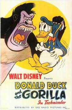 Disney movie short cartoon poster Donald Duck and the Gorilla