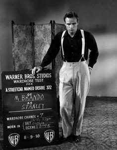 Brando in A Streetcar Named Desire.