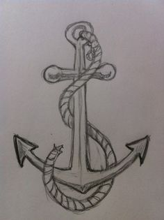 If you want to learn to draw a simple and easy anchor then you need to take a look at this drawing tutorial. It teaches you a step-by-step process to draw a simple anchor quickly. Find out more... Úžasné Kresby, Kreslení Tváří, Pěkné Kresby, Easy Pencil Drawings, Co Nakreslit, Jak Kreslit, Skeče, Malby, Kresba Tužkou