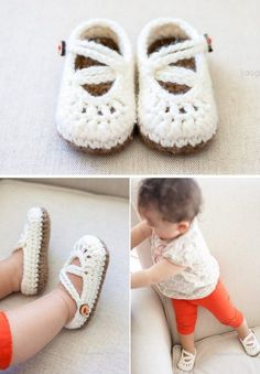 Double Strapped Baby Mary Jane Shoes Crochet Pattern.