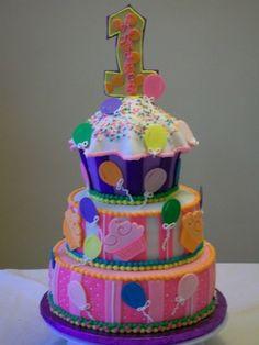 Giant Birthday Cupcake Happy Cakes Cupcakes Chocolate Buttercream Cake