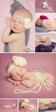 newborn photo session, newborn girl photography, newborn with pearls