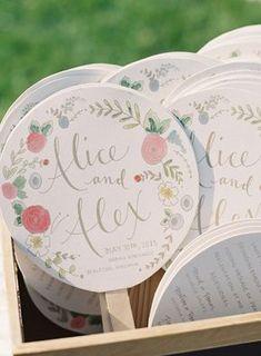 Summer Wedding Ideas - Colorful Morais Vineyard Wedding in Virginia Wedding Paper, Wedding Gifts, Wedding Souvenir, Wedding Stationary, Wedding Invitations, Wedding Program Fans, Wedding Ceremony Programs, Vineyard Wedding, Wedding Designs