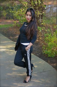 Who is that girl Mo?: DIY: Cuffed Track Pants