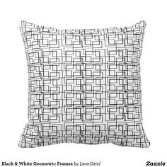 Decor Pillows, Decorative Pillows, Throw Pillows, Repeating Patterns, Frames, Black And White, Modern, Design, Decorative Throw Pillows