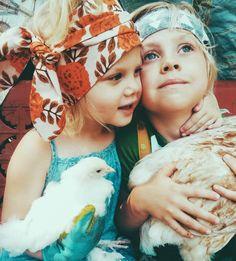 Little girls in scarves...always in style