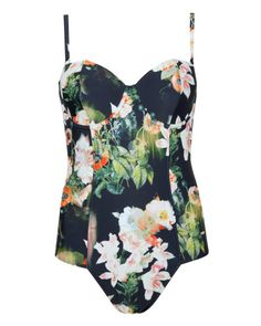 Ted Baker - Aug 2014 - Opulent bloom swimsuit - Black | Swimwear | Ted Baker UK http://www.tedbaker.com/uk/Womens/Clothing/Swimwear/MEEKKA-Opulent-bloom-swimsuit-Black/p/112019-00-BLACK