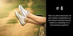 Beine in Haarwuchsrichtung epilieren
