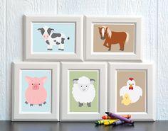 Farm Animal Nursery Print Set  FREE SHIPPING by HowIWonderShop, $26.95