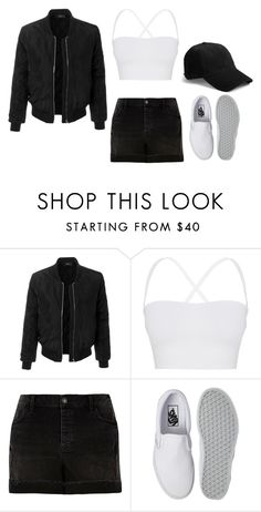 """black and white airport #4"" by ifrancesconi on Polyvore featuring LE3NO, Theory, River Island, Vans and rag & bone"