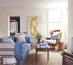 Tom Scheerer living room in Sag Harbor via architect design™