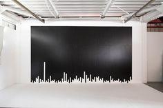"Kouichi Okamoto's new work ""liquid tape cutter work""."