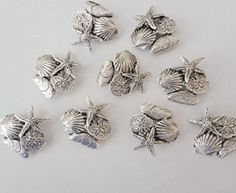 Large Sea Life Cluster Push Pins. Made in USA of lead free metal.  Has a nail on back to push into soft wood or bulletin board! Available on amazon.com search 'Norma Jean Designs'  http://www.amazon.com/LARGE-SEALIFE-CLUSTER-PUSH-PINS/dp/B00ZO1SHD2/ref=sr_1_1?ie=UTF8&qid=1464883817&sr=8-1&keywords=norma+jean+designs+CLUSTER