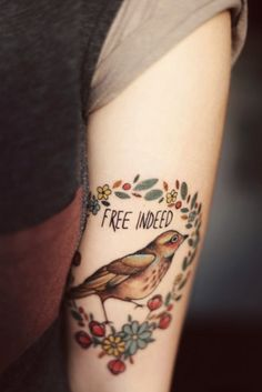bird tattoo via Tattoologist