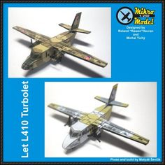 Let L-410 Turbolet Transport Aircraft Paper Model Free Download - http://www.papercraftsquare.com/let-l-410-turbolet-transport-aircraft-paper-model-free-download.html